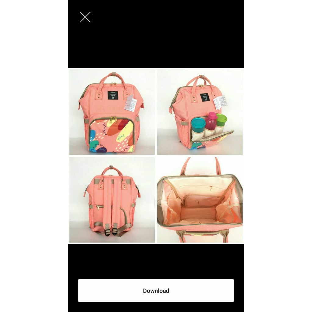 Tas Perlengkapan Bayi Diaper Travel Backpack Ransel Ibu Dan Gabag Black Calmo New Shopee Indonesia