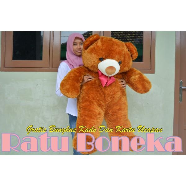 Unik Boneka Beruang Teddy Bear Pita Besar Jumbo Coklat Moca 120 cm SNI  Murah  43d8eda400