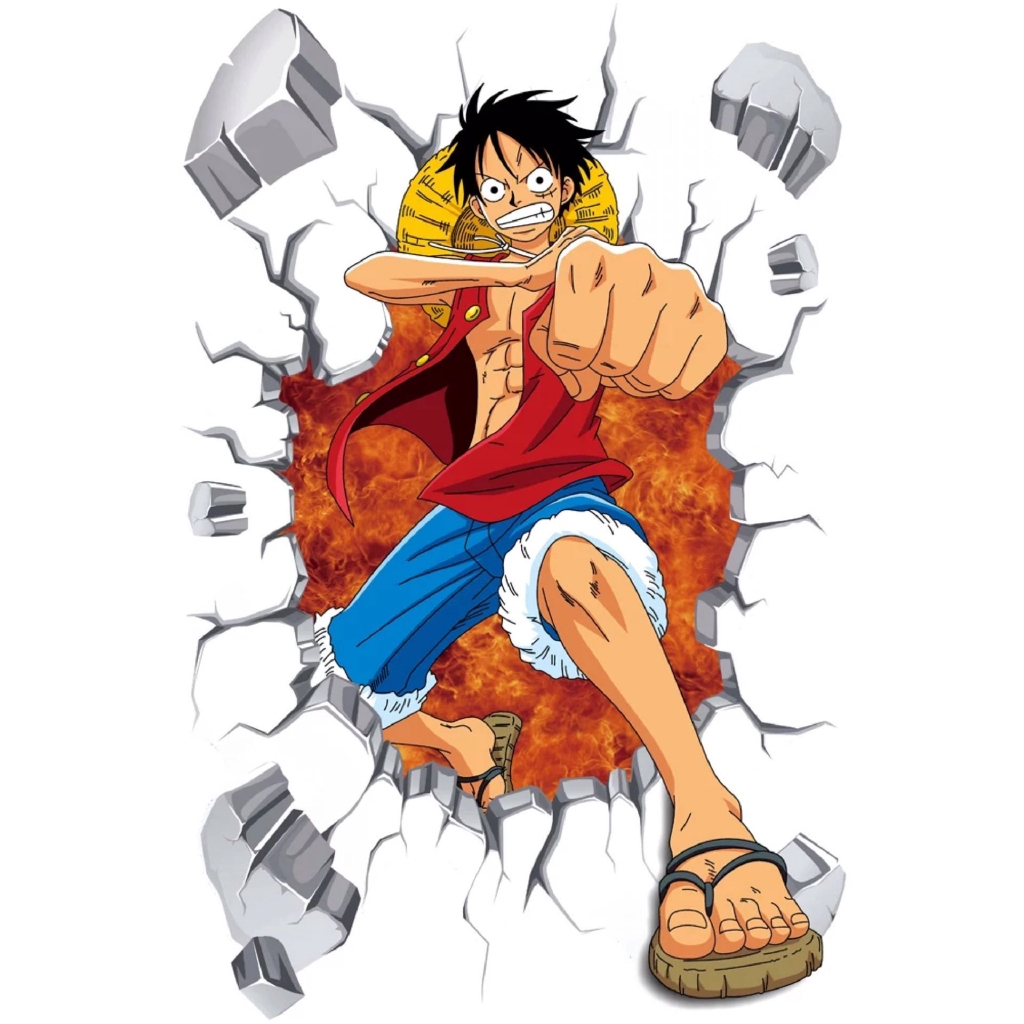 Anime One Piece Wall Sticker Poster Boy Asrama Kamar Tidur Wallpaper Sticker Dekorasi Kamar Tidur Ka Shopee Indonesia