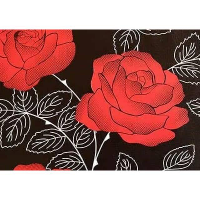 Wallpaper Dinding Bunga Mawar Merah Elegant Bagus Indah Shopee