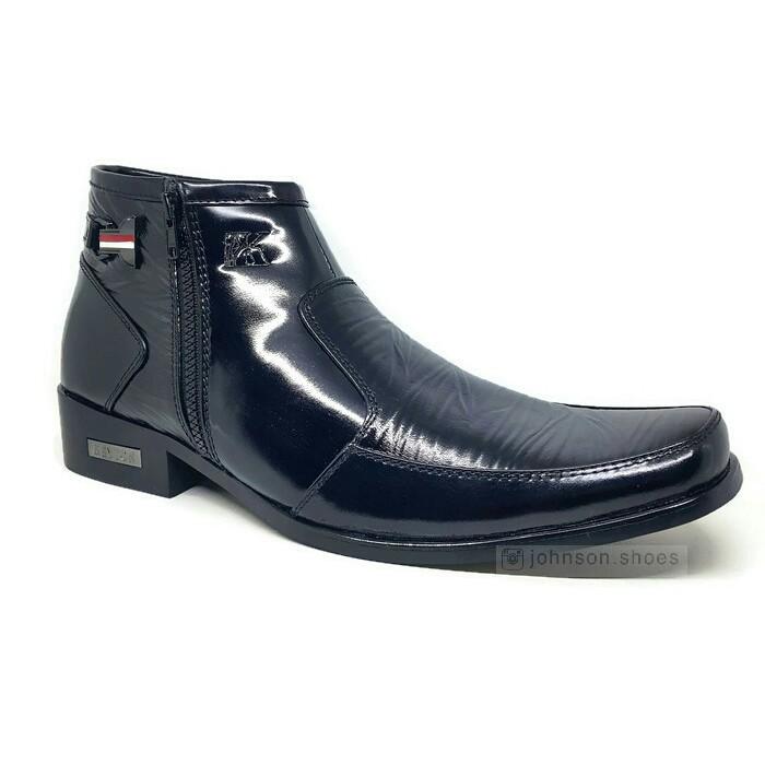 Sepatu Pantofel Kulit Pria Laki KEYTON BFT-828 Hitam 100% Kulit Asli ... f6a31ed6bd