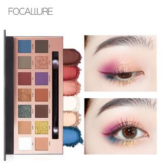 Focallure Palet Eyeshadow 14 Warna Dengan Brush thumbnail