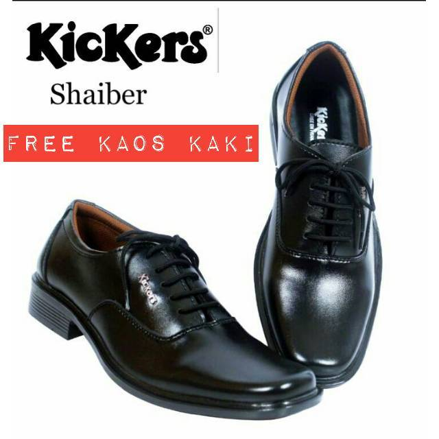 Sepatu Kickers Pantofel Derby Pakai Tali Formal Resmi Kerja Kantor