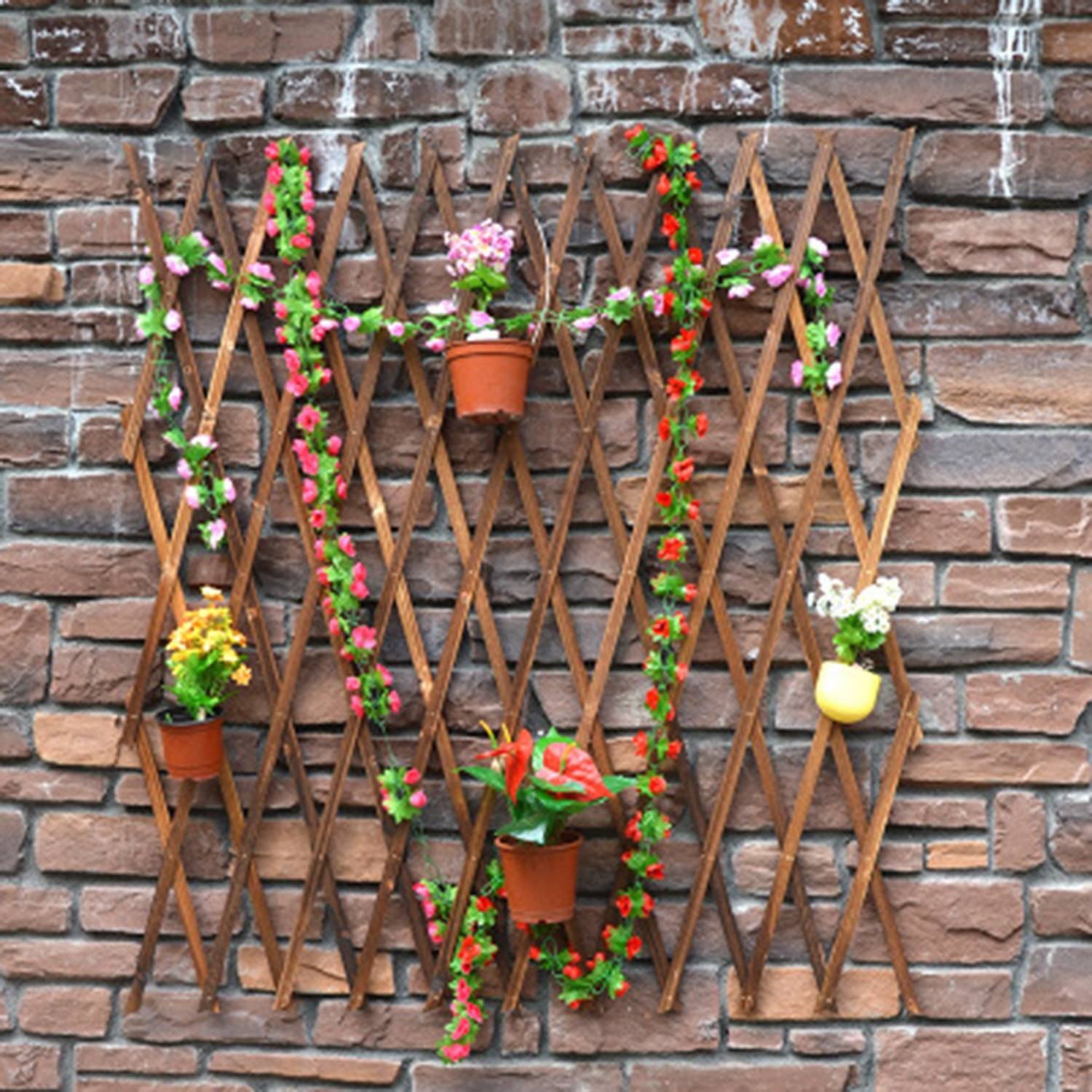 Expanding Wood Garden Wall Fence Panel Plant Climb Trellis Support Decorative Garden Fence Home Yard Decoration Shopee Indonesia