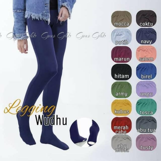 Bawahan Muslim Wanita Celana Legging Wudhu Legging Kaos Kaki Shopee Indonesia