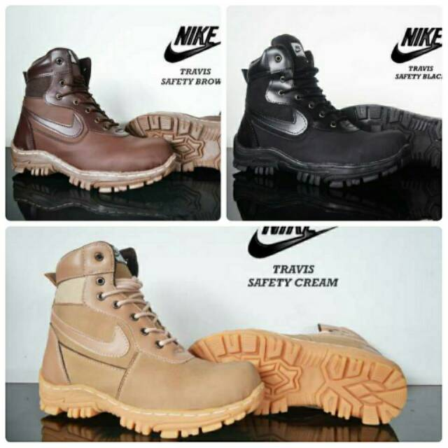 Sepatu Boots Nike Safety Boot Murah Pria Casual Sneakers Proyek Murah  Tracking  4f23795204