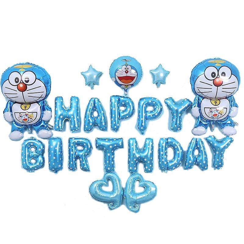 1 Set Balon Foil Desain Happy Birthday Untuk Dekorasi Pesta Ulang Tahun Anak Laki Laki Perempuan