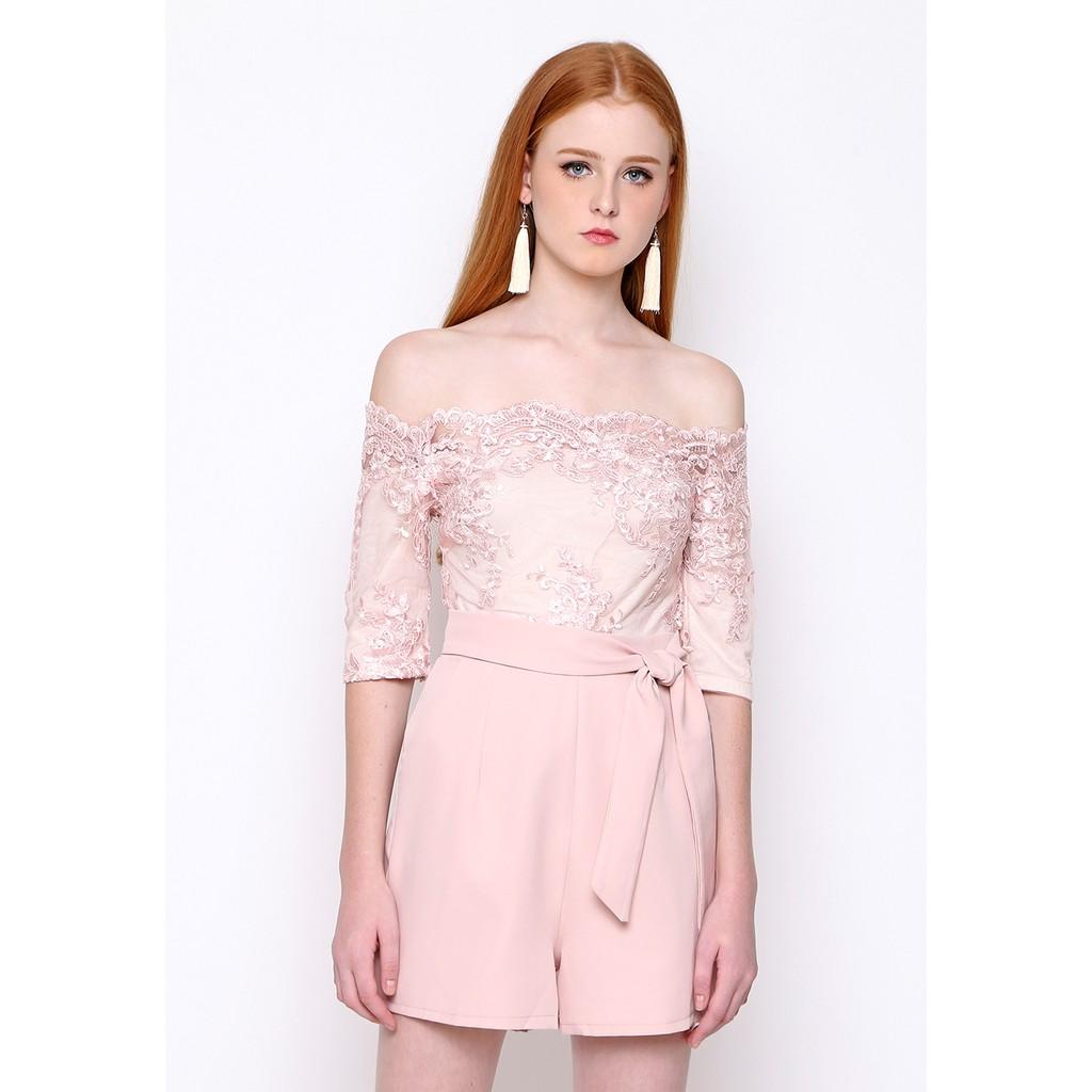 Chocochips - Lova Jumpsuit Pink | Shopee Indonesia