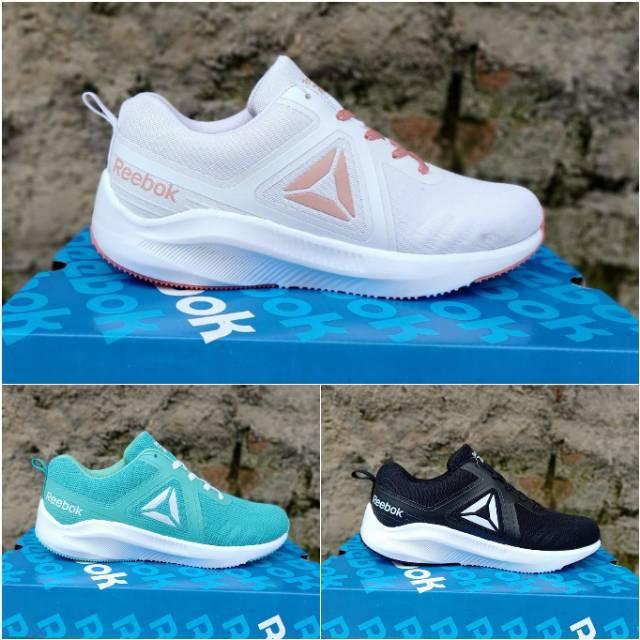 Sepatu Reebok Wanita Sport Kasual Senam Aerobik Zumba Fitness