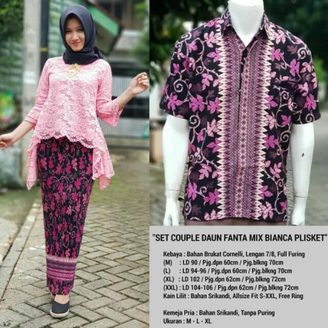 BRUKAT COUPLE | Batik Couple Murah | Set Batik Couple mix Cape Brukat | Shopee Indonesia