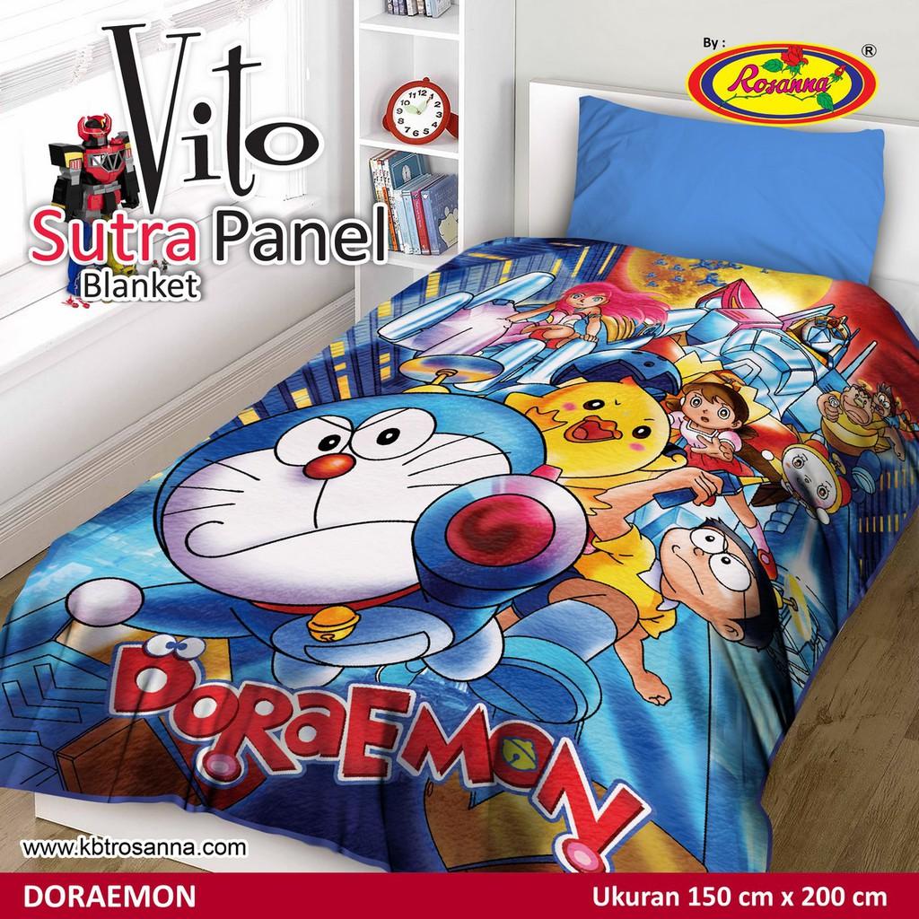 Selimut Akiko Sutra Panel 150x200 Doraemon Shopee Indonesia Frozen