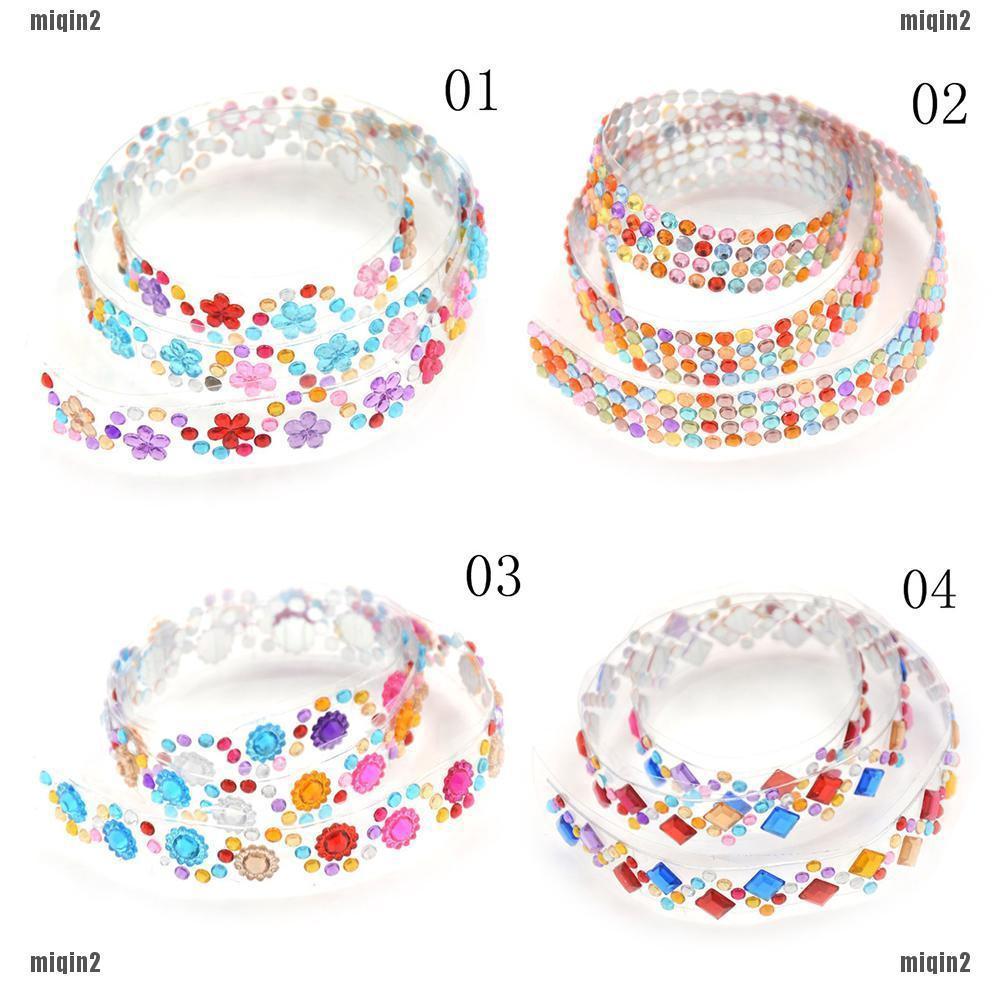 [mqsetenid] Stiker Kristal Berlian DIY Untuk Dekorasi Album Foto Scrapbook Bingkai Foto
