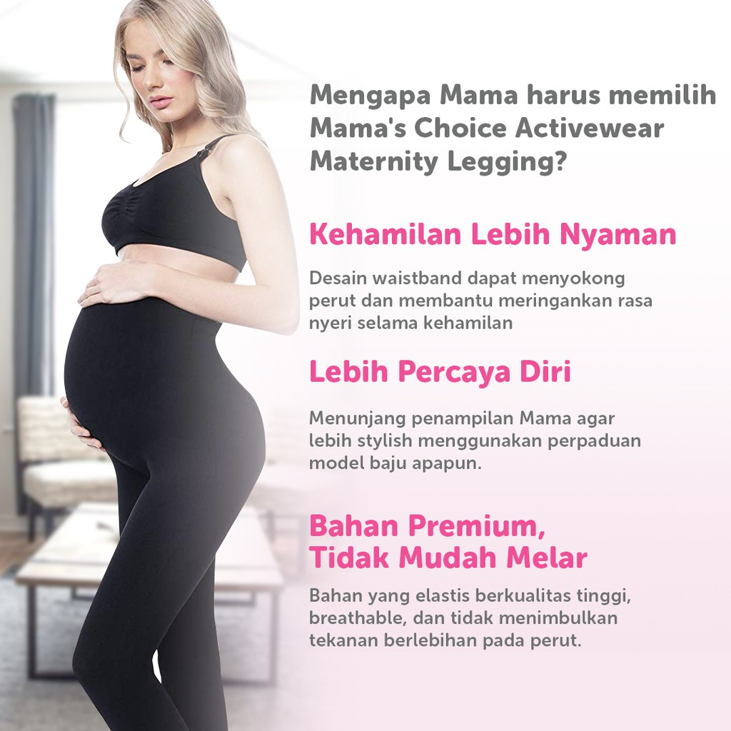 Mama S Choice Active Wear Maternity Legging Legging Hamil Mama S Choice Shopee Indonesia