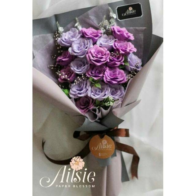 Buket Bunga Mawar Rose Bouquet Buket Kertas Hadiah Kado Ulang Tahun Anniversary Pacar Shopee Indonesia
