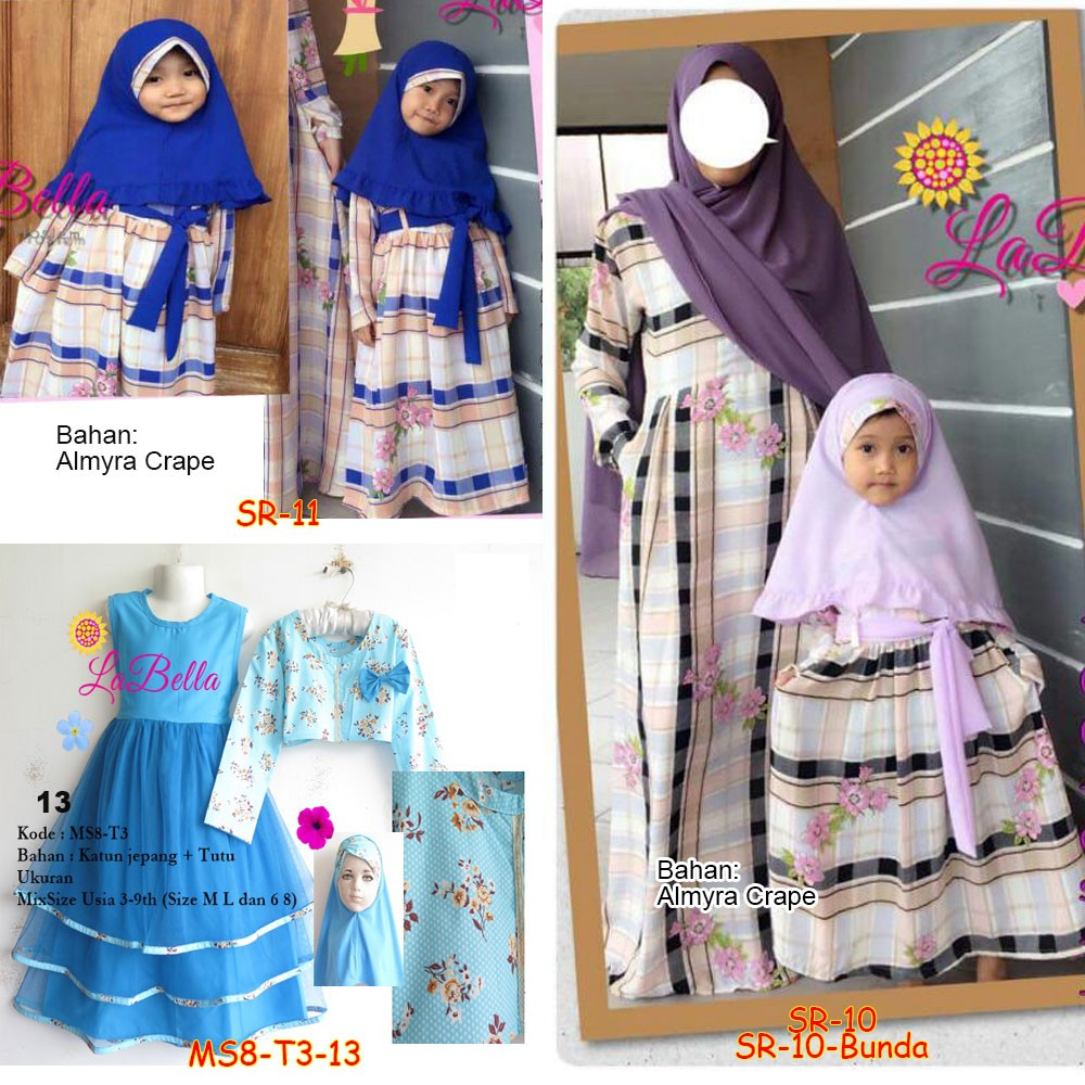 Gamis Anak Cotton Candy Overall Size S Saleha Series by Mamanda