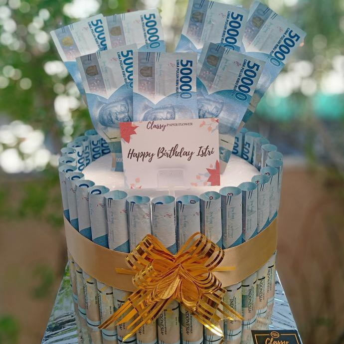 MONEY BIRTHDAY CAKE / KUE UANG / BUKET BOUQUET BUNGA UANG / ULTAH