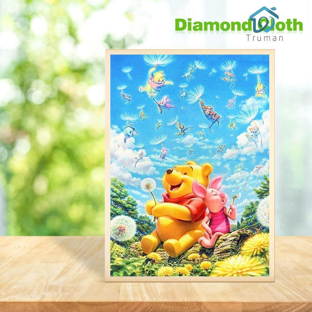 Lukisan Diamond 5d Diy Gambar Winnie The Pooh Untuk Dekorasi Rumah Shopee Indonesia