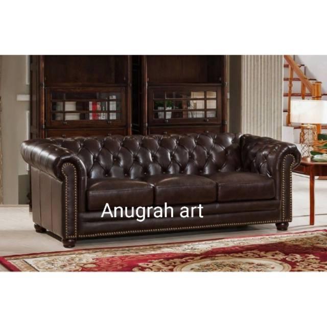 Sofa Retro Chesterfield Tamu Mewah