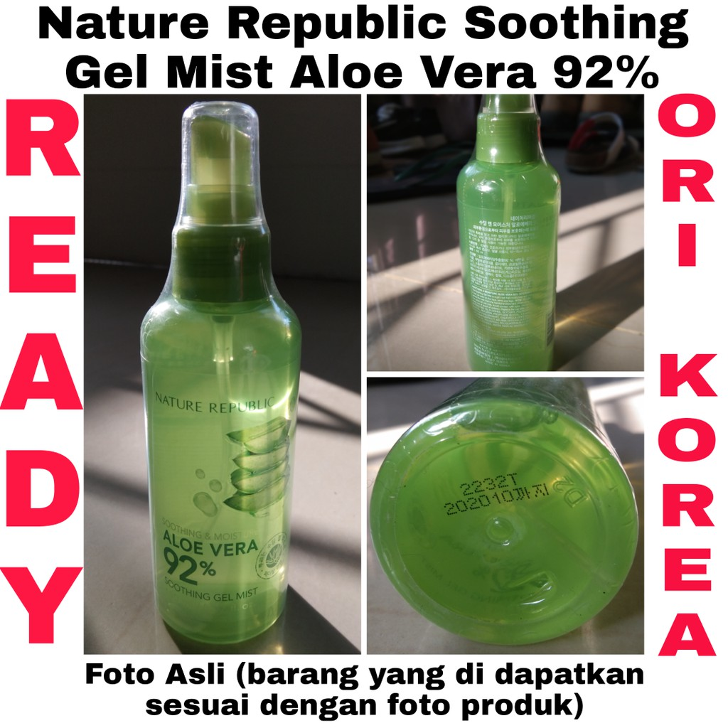 Jeju Fresh Aloe Vera Soothing Gel Bpom Shopee Indonesia Beauty Korea Dan Original