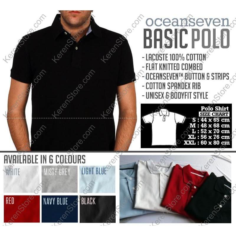 DISKON  POLO SHIRT BASIC (POLOS) - Ocean Seven Distro  b38dd202e6
