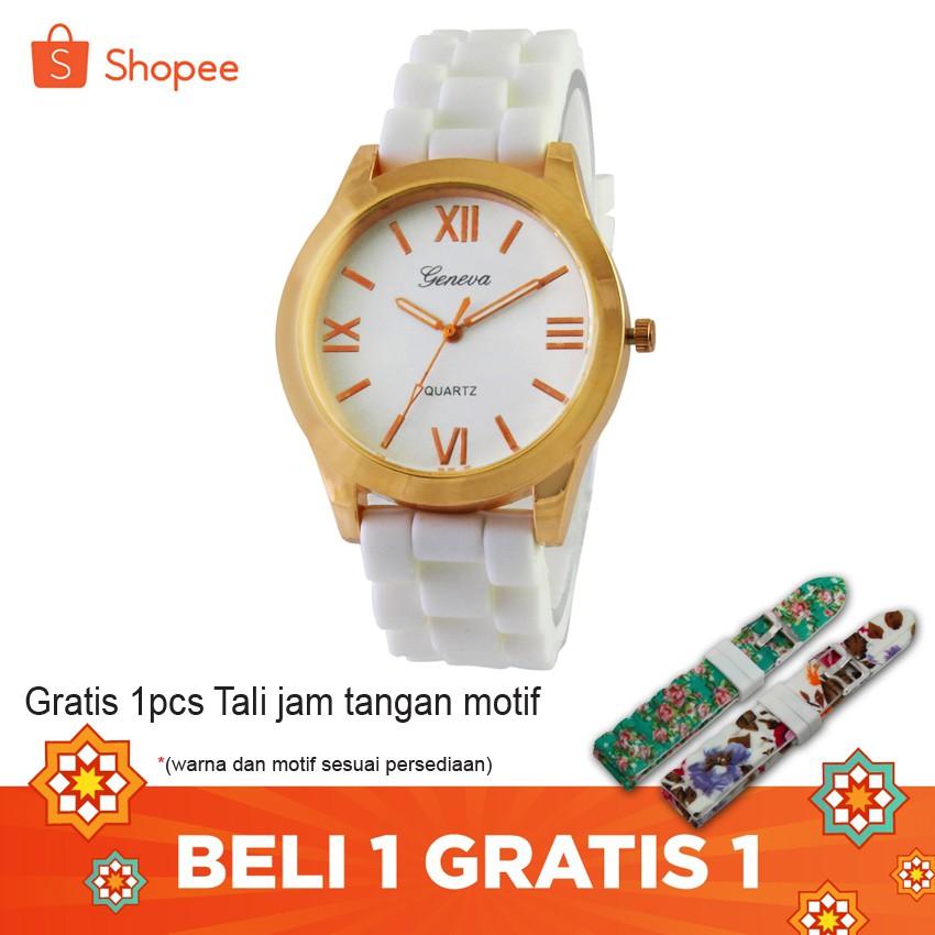 Geneva Cossy Ladies Fashion Watch GNV 1817 Blk - Jam Tangan Wanita - Hitam | Shopee Indonesia