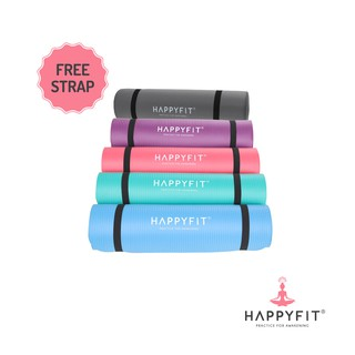 Happyfit Matras Olahraga NBR 10MM /Exercise/Gym Mat INCLUDE STRAP