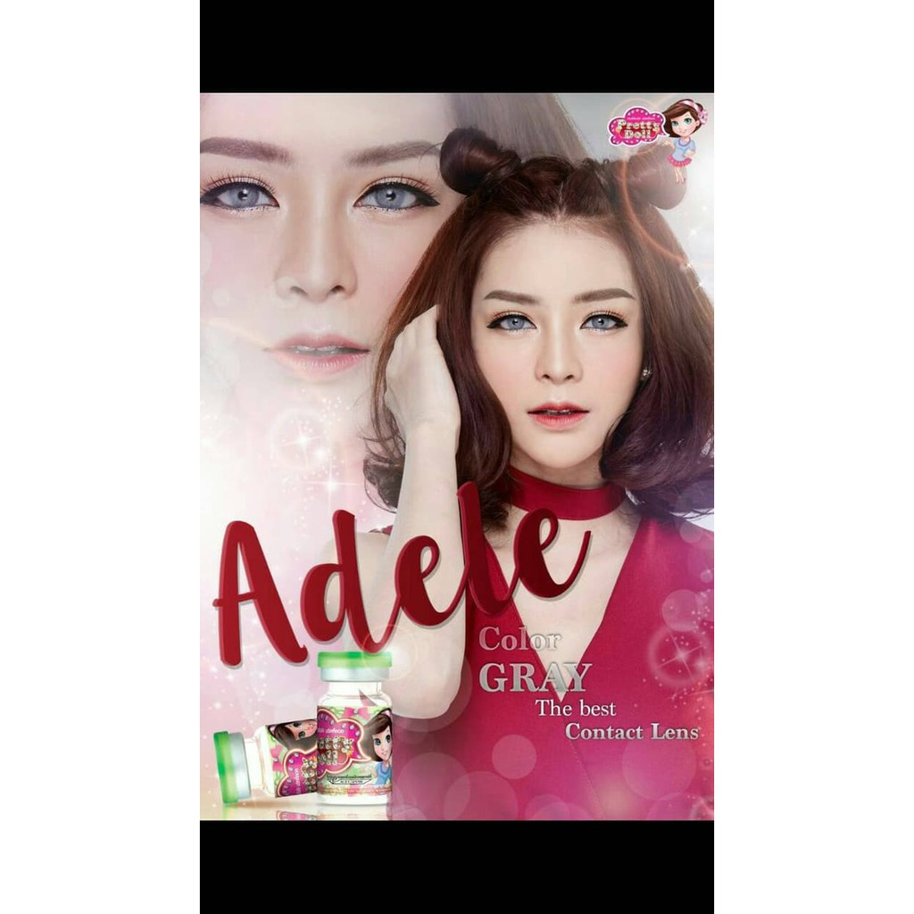 Softlens Adele By Pretty Doll Shopee Indonesia Diva Queen One Layer With Clear Vision