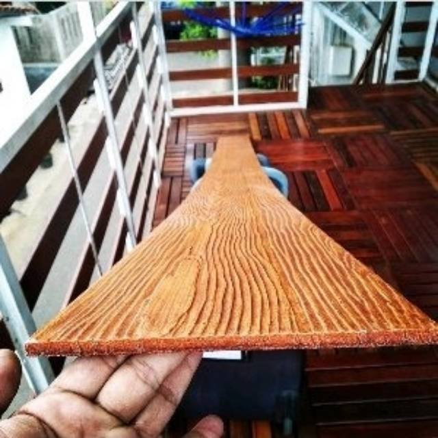 Papan Pagar Grc Motif Kayu Wood Plank Lis Plank 20x150 Cm Shopee