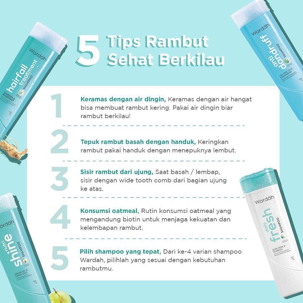 ❤ BELIA ❤ Wardah Shampoo & Conditioner   Daily Fresh Hairfall Treatment Anti Dandruff Nutri Shine-5
