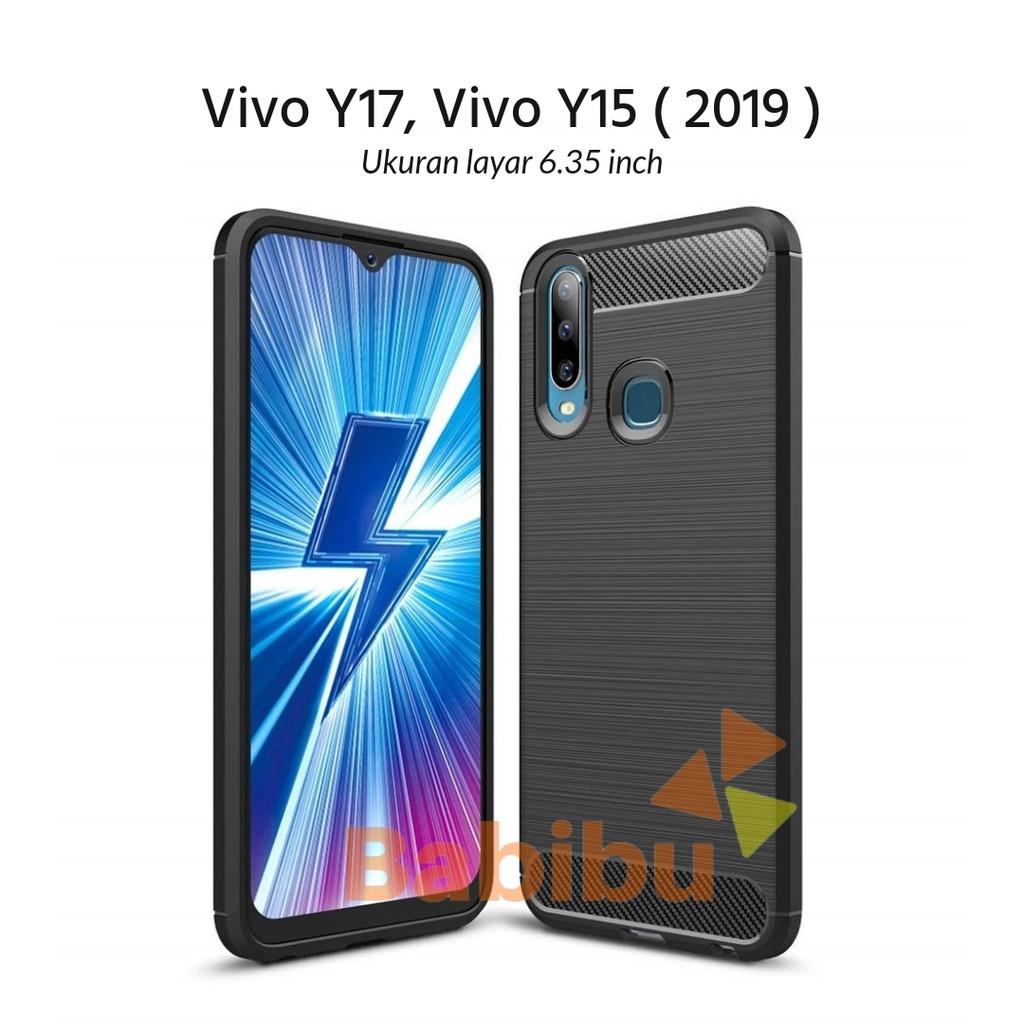 Case Vivo Y17 Y15 2019 6 35 Inch Ipaky Soft Carbon Shopee Indonesia
