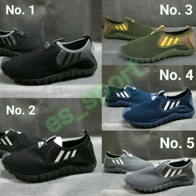 Sepatu Adidas Jawpaw Slip On Pria Casual Cowok Lifestyle Hangout