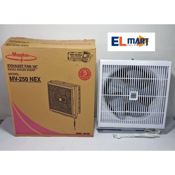 Maspion Exhaust Fan Dinding 12 inch Putih, 45 watt. MV-300 NEX |