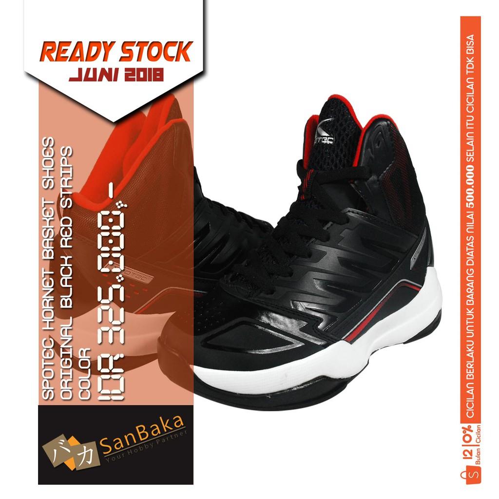 Sepatu Basket Original SPOTEC HORNETS Size 44-46  341fc3e0ef