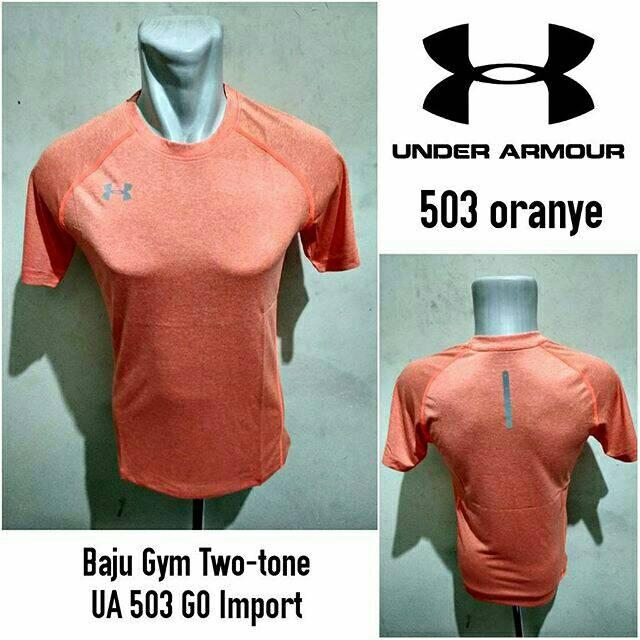 Baju Gym UA 503 Oranye Kaos Olahraga Under Armour Gym Import ... 395e6edee5
