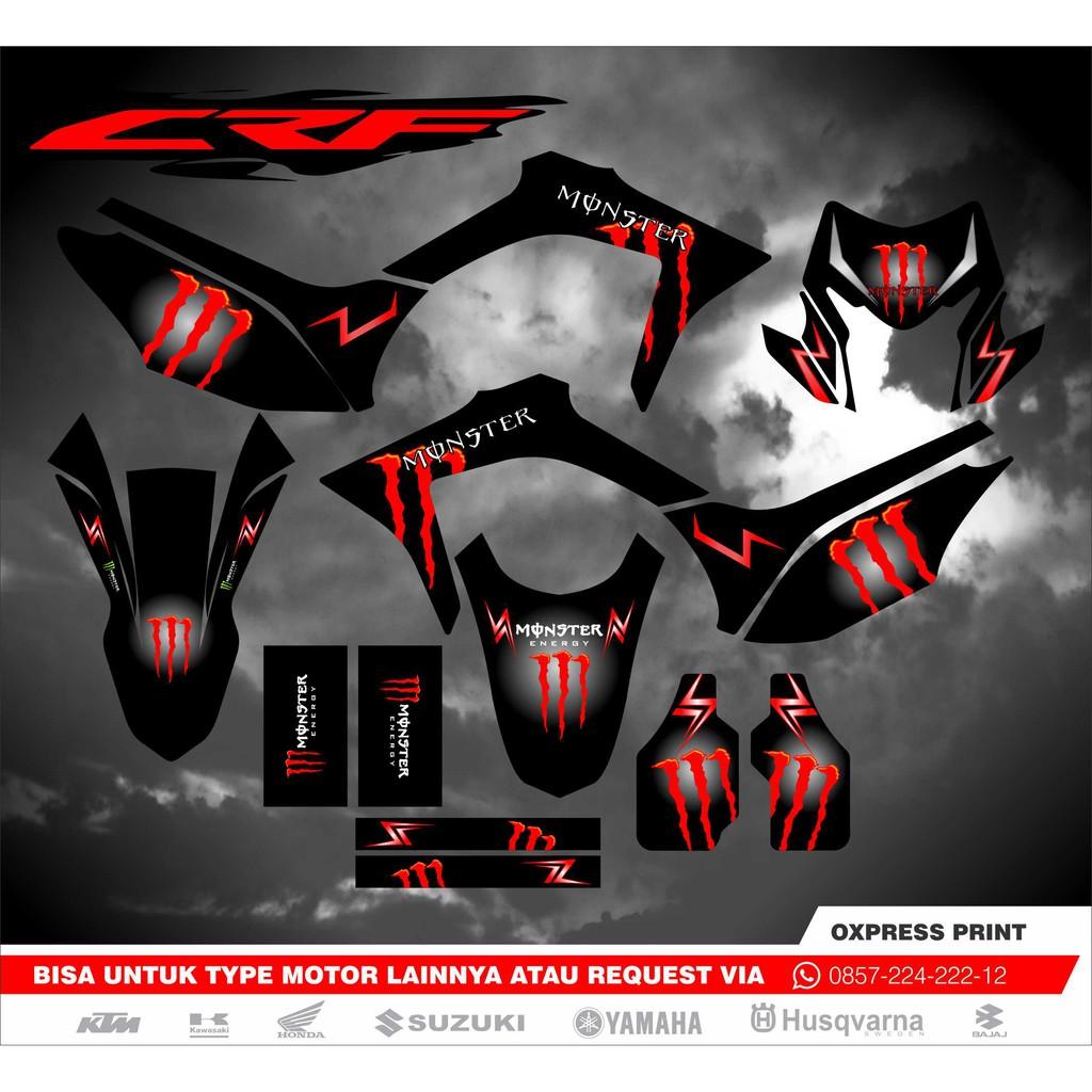 Stiker decal honda crf 150 l sticker custom monster energy terbaik shopee indonesia