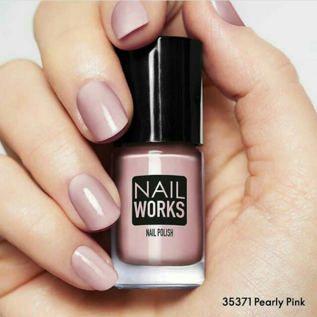 Nail Works Nail Polish Kutek Oriflame Pearly Pink Shopee Indonesia