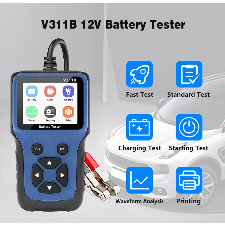 V311b Alat Tester Baterai Evaluate 12v Untuk Mobil