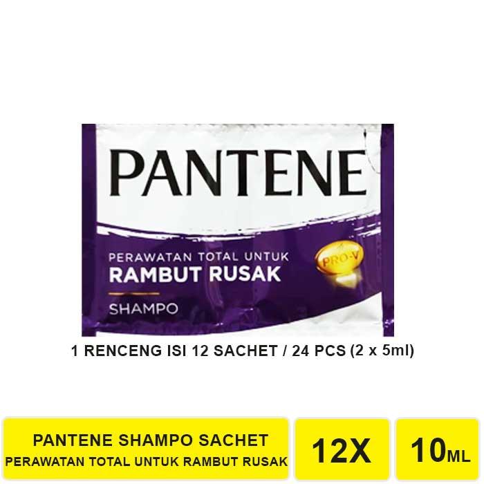 SHAMPO PANTENE SACHET 1 RENCENG ISI 12 SACHET-UNGU