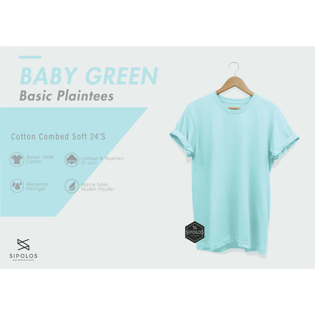 Baby Blue Kaos Polos Lengan Pendek Cotton Combed 24s Shopee 100 Indonesia