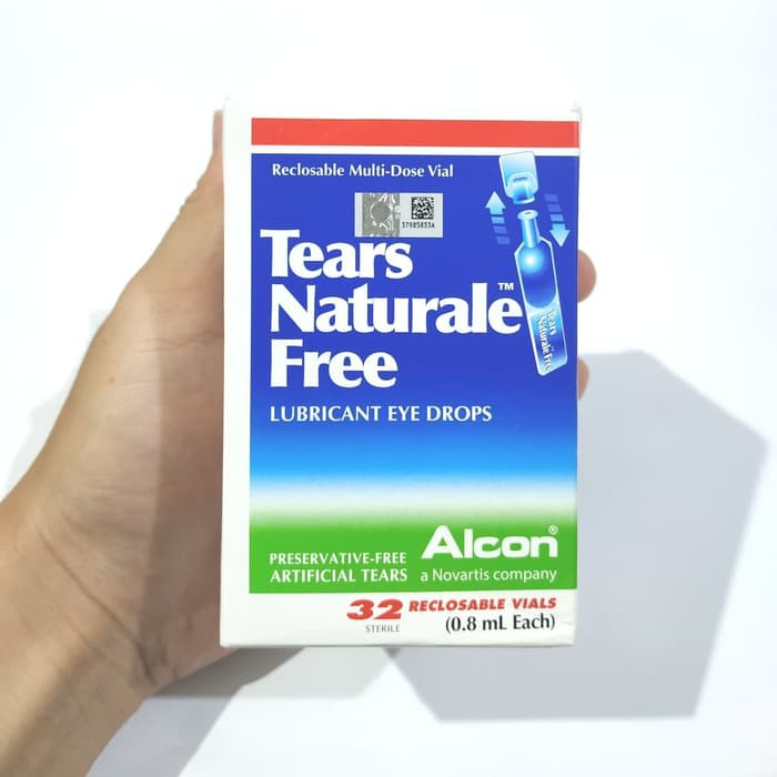 Tears Naturale Free Lubricant Eye Drops Box 32 Sterile Reclosable Vial Shopee Indonesia