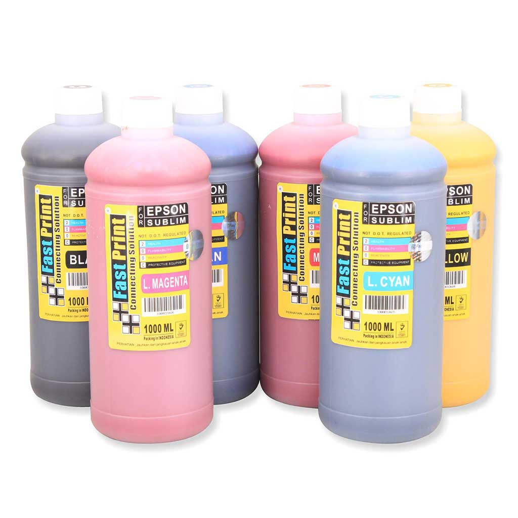 Tinta Pigment Epson T7741 Printer M100 M105 M200 M205 Black Fast Print Light Cyan 70ml Photo Ultimate Plus Uv Khusus L Series 6 Warna L800 L850 L1800 140 Ml Shopee Indonesia