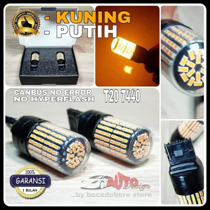 Lampu LED Canbus - T20 - 7440 W21W - 3014 - 144SMD - Untuk Lampu Sein - Putih | Shopee Indonesia