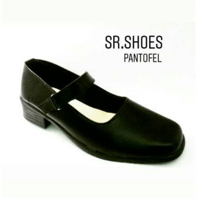 Sepatu Pantofel Wanita Paskibra Pdh Sekolah Hitam Bertali Shopee Indonesia