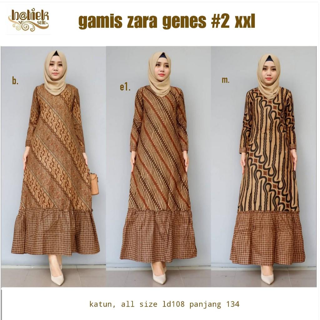 Gamis Zara Genes #10 by batiek batik sogan gamis batik
