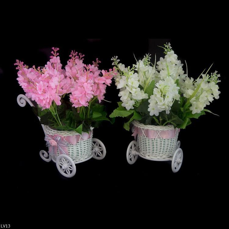 LF Buket Bunga Lavender Vas Melamin .
