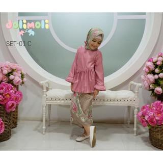 Spesial Baju Muslim Anak Gamis Labella Biru Sb4 0917