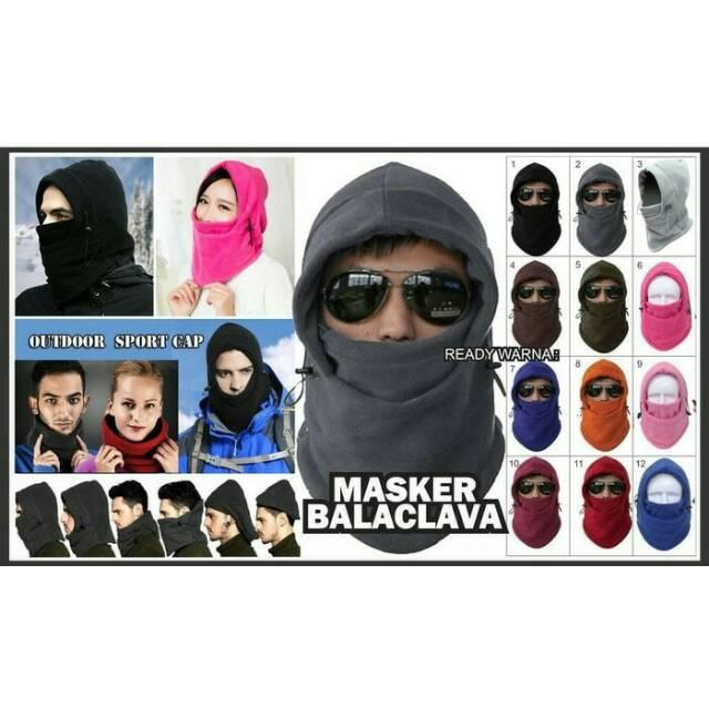 Masker Polar Buff Kupluk Scraf Syall Ninja Balaclava Polar 6 in 1 | Shopee Indonesia