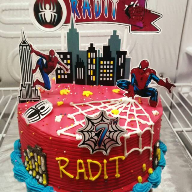 Cake Spiderman Cake Karakter Kue Ultah Anak Shopee Indonesia