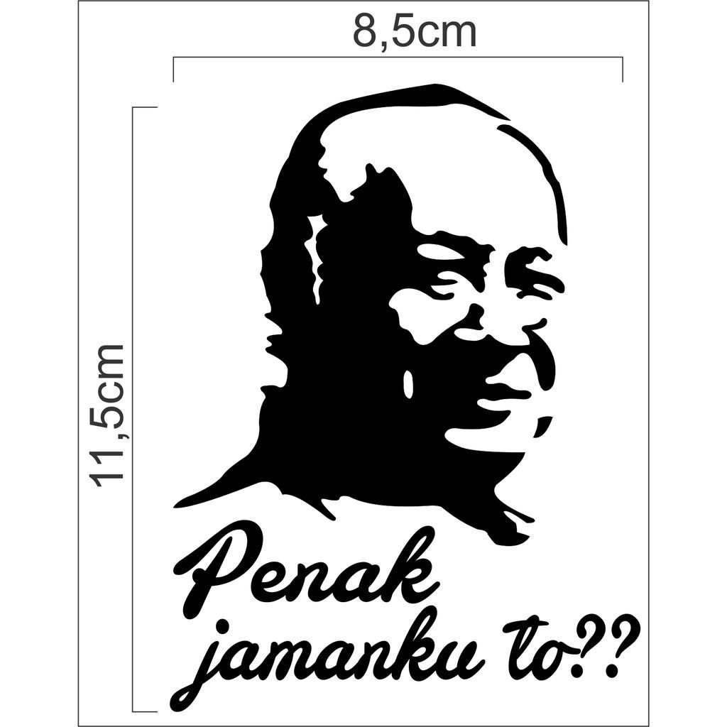 Sticker Cutting Sketsa Soekarno Stiker Soekarno