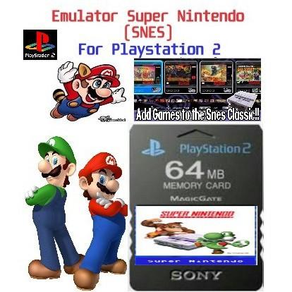 Memory card PS2 64MB Emulator Super Nintendo Game SNES